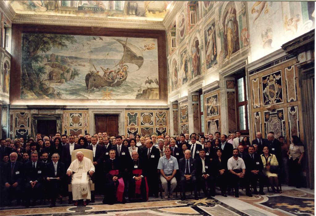 Udienza per l'Atto di fondazione delle Scuole di Etica ed Economia insieme al Santo Padre Giovani Paolo II
