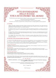Atto di fondazione delle scuole di etica ed economia nel mondo_0001