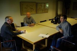 Flavio Danese a sinistra, al centro della foto Anselmo Castelli e a sinistra Stefano Lunardi